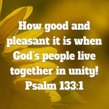 When God's people live together in unity