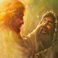Jesus heals a man born blind